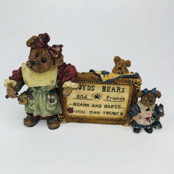 Vtg Boyds Bear A Sign of the Times Tessa Ben